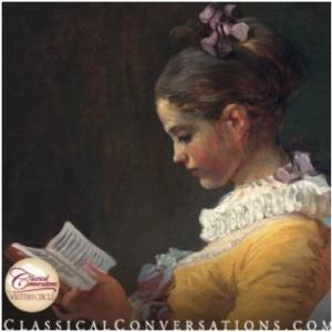 Medieval girl reading